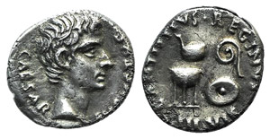 Augustus (27 BC-AD 14). AR Denarius (17mm, ...