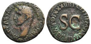 Augustus (27 BC-AD 14). Æ As (28mm, 11.04g, ...