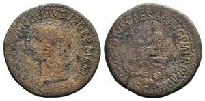 Nero Claudius Drusus (died 9 BC). Æ ...