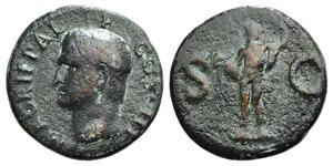 Agrippa (died 12 BC). Æ As (28mm, 12.65g, ...