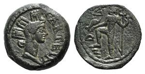 Iberia, Carteia, after 44 BC. Æ Semis ...