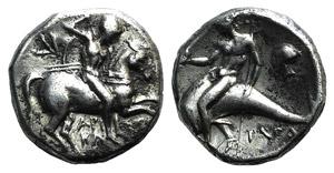 Northern Apulia, Tarentum, c. 272-240 BC. AR ...