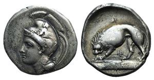Northern Lucania, Velia, c. 334-300 BC. AR ...