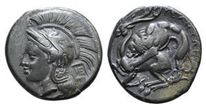 Northern Lucania, Velia, c. 280 BC. AR ...