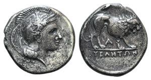 Northern Lucania, Velia, c. 340-334 BC. AR ...