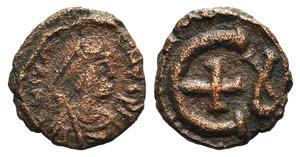 Justinian I (527-565). Æ 5 Nummi (13mm, ...