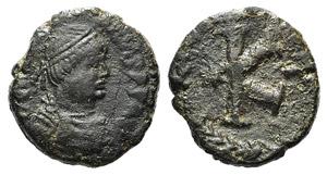 Justinian I (527-565). Æ 20 Nummi (22mm, ...