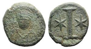 Justinian I (527-565). Æ 10 Nummi (18mm, ...