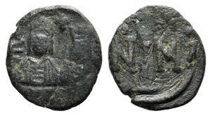Justin II and Sophia (565-578). Æ 10 Nummi ...