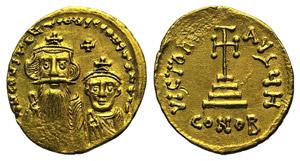 Constans II (641-668). AV Solidus (20mm, ...