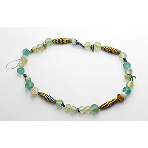 Group of fifty roman glass necklace beads ...