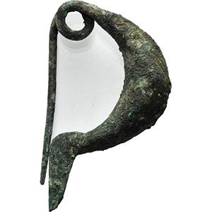 Bronze leech-type fibula Central Italy, 8th ...