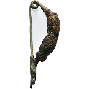 Bronze and amber leech-type fibula Central ...