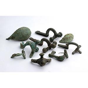 Group of nine bronze fibulae 1st century BC ...
