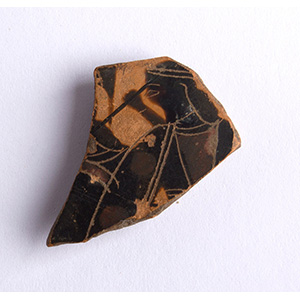 Frammento di vaso a figure nere VI secolo ...