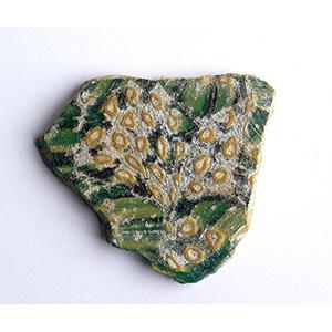 Fragmentary glass mosaic inlay 1st century ...