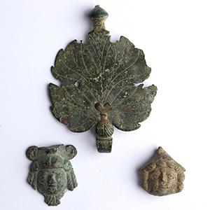Three bronze apllique 1st century BC - 1st ...