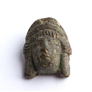 Bronze theatrical mask applique 1st - 2nd ...