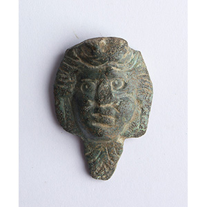 Bronze handle with a male head applique 1st ...