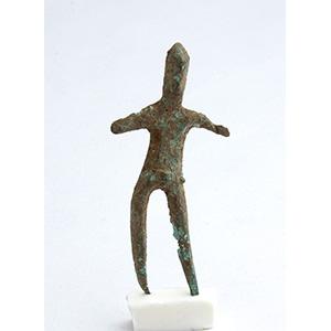 Etruscan male bronze statuette ca. 4th ...