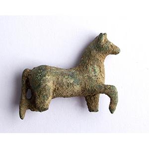 A small roman bronze horse figurine 1st ...