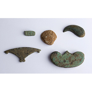 Group of bronze and lead ornaments 1st - 3rd ...