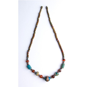Faience and glass necklace Egypt, 18th ...