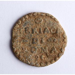 Leaden Theriac box seal  Rome, 15th - 16th ...