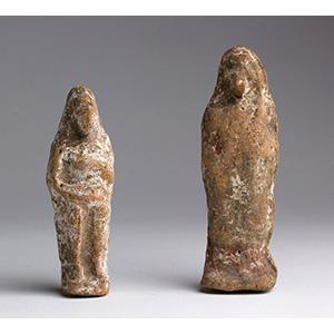 Due statuette votive  Magna Grecia, V - IV ...