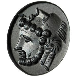 Onyx with Herakles head Intaglio 1st - 2nd ...