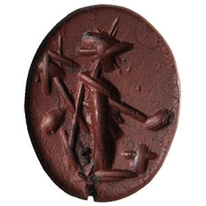 Red jasper with Minerva Intaglio 2nd - 3rd ...