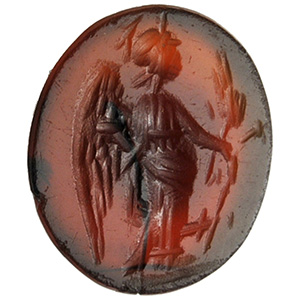Carnelian with winged Victory Intaglio 1st - ...