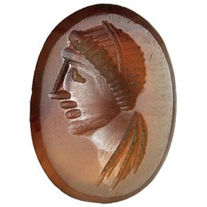 Carnelian with female head Intaglio 1st - ...