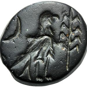 Black glass with eagle, crescent and palm ...