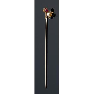 18K gold Liberty style & period stick pin; ; ...