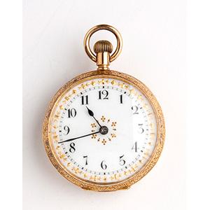 Solid  18K gold pocket watch, OMEGA ...