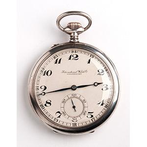 Solid 800‰ pocket watch, IWC SHAFFHAUSEN ...