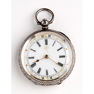 Solid  935‰ Silver pocket watch; ; the ...