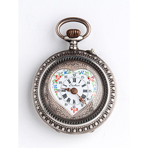 Solid  Silver pocket watch; ; the case is ...
