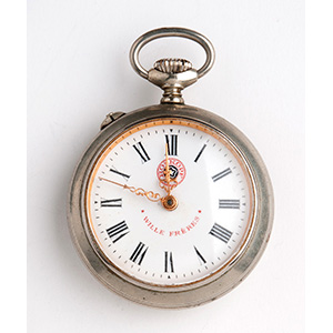WILLE FRERES pocket watch; ; the white ...