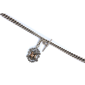 Sterling Silver (925‰) ALBERT pocket watch ...