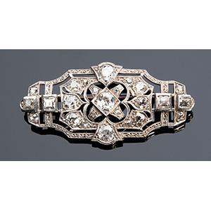 platinum and diamond Art Deco pendant ...