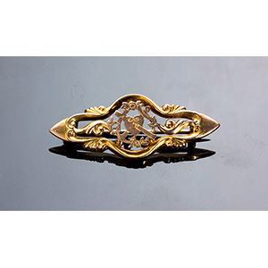 Antique Victorian 9K yellow gold small ...