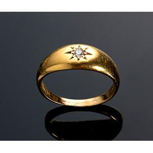 Antique Edwardian 18K yellow gold ring - ...