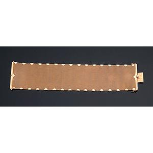 Vintage 18K yellow gold texture bracelet -  ...