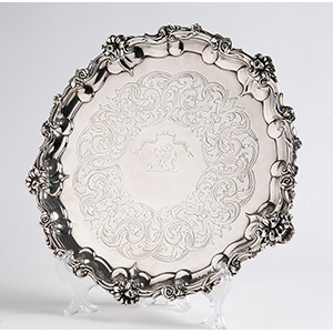 Attractive  Sterling Siver (925‰) Salver,  ...