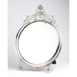 Large Sterling Silver (925‰) frame mirror, ...
