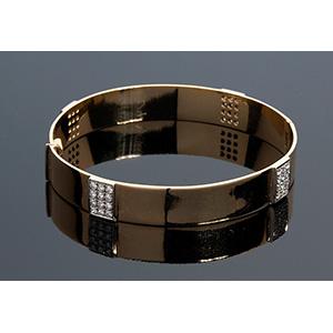 18k yellow gold diamonds bangle bracelet ...