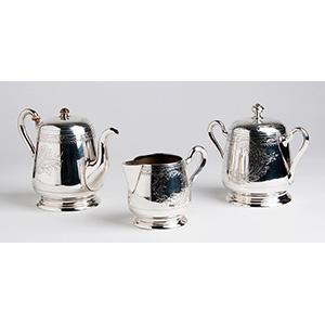 Elegant  84 zolotniks (875‰) Tea service, ...
