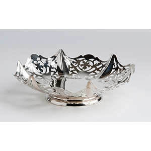 Cestino sagomato in argento 925‰ - E. ...